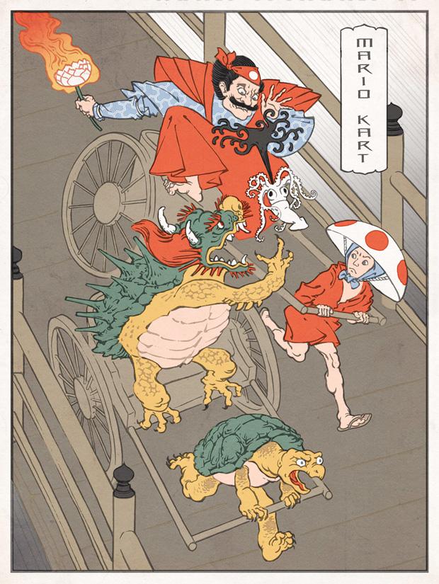 Japanska träsnitt #4