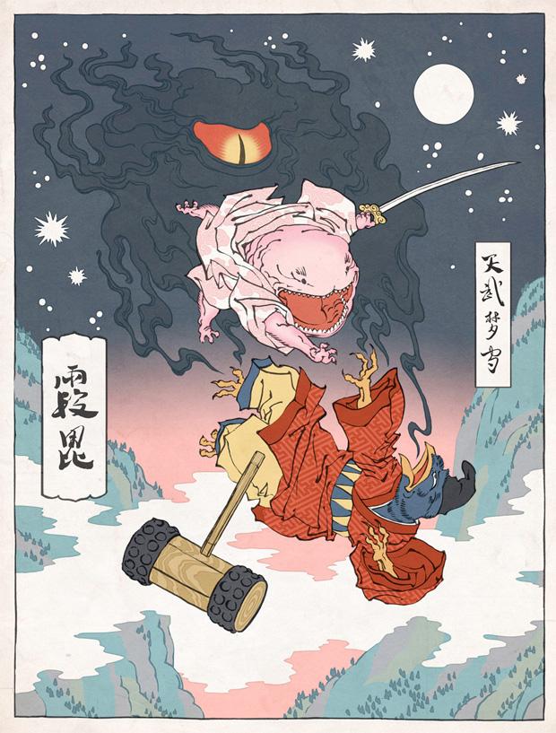 Japanska träsnitt #8