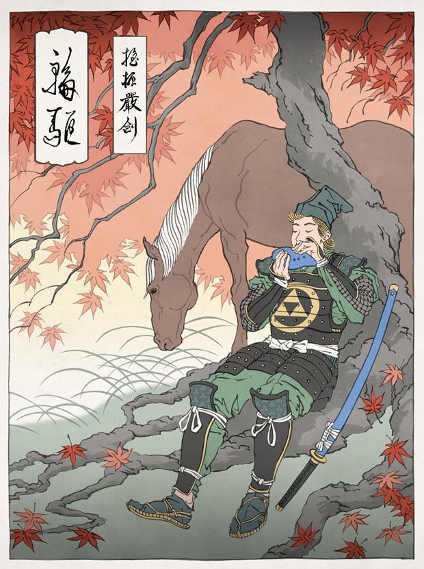 Japanska träsnitt #9