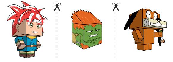Papperstunna spelkaraktärer #1