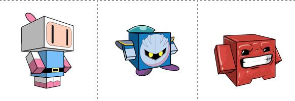 Papperstunna spelkaraktärer #11