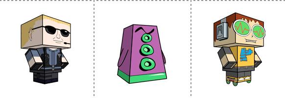 Papperstunna spelkaraktärer #15