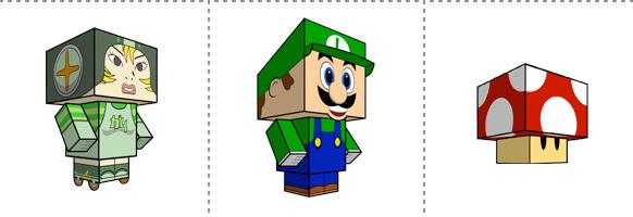 Papperstunna spelkaraktärer #16