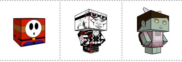Papperstunna spelkaraktärer #18