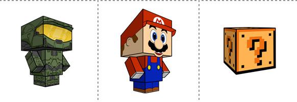 Papperstunna spelkaraktärer #3