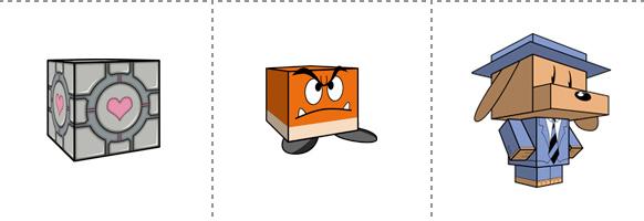 Papperstunna spelkaraktärer #4
