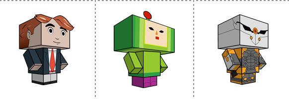 Papperstunna spelkaraktärer #8