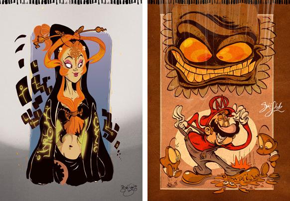 Spel-karikatyrer #2