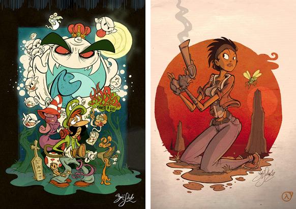 Spel-karikatyrer #5